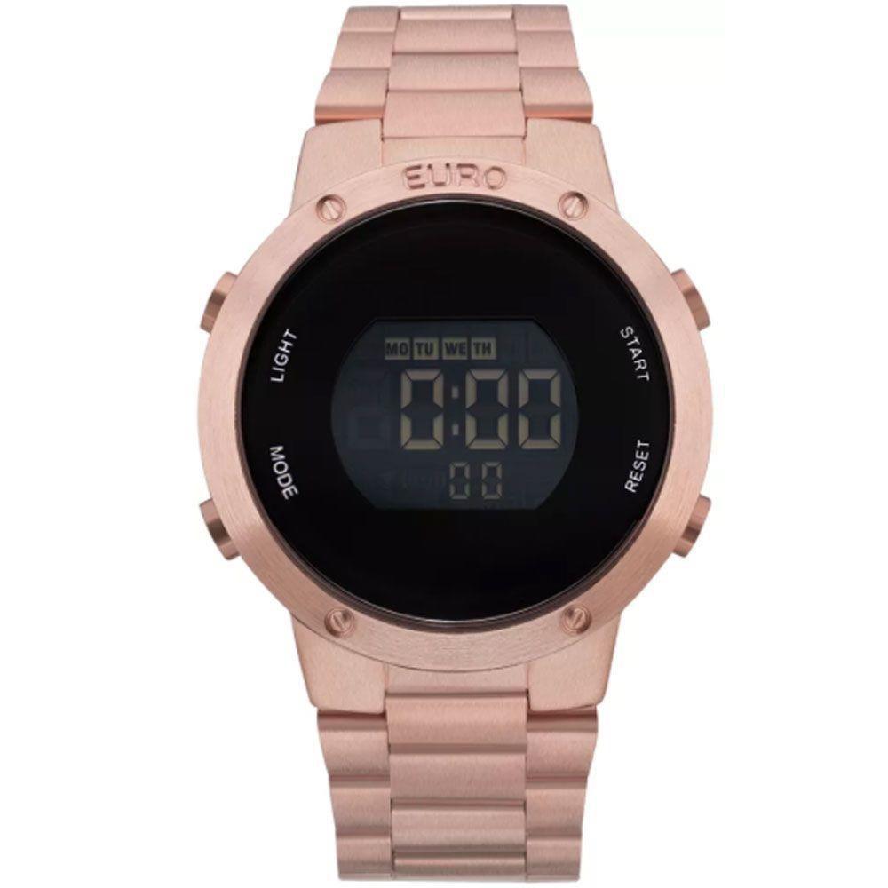 Relógio Euro Digital Rose Feminino Fashion Fit Gold EUBJ3279AF/4J