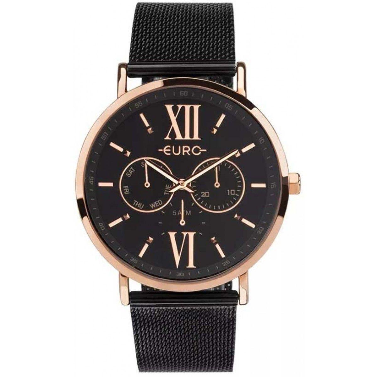 Relógio Euro Feminino Analógico Preto/Rose EU6P29AHG/5P