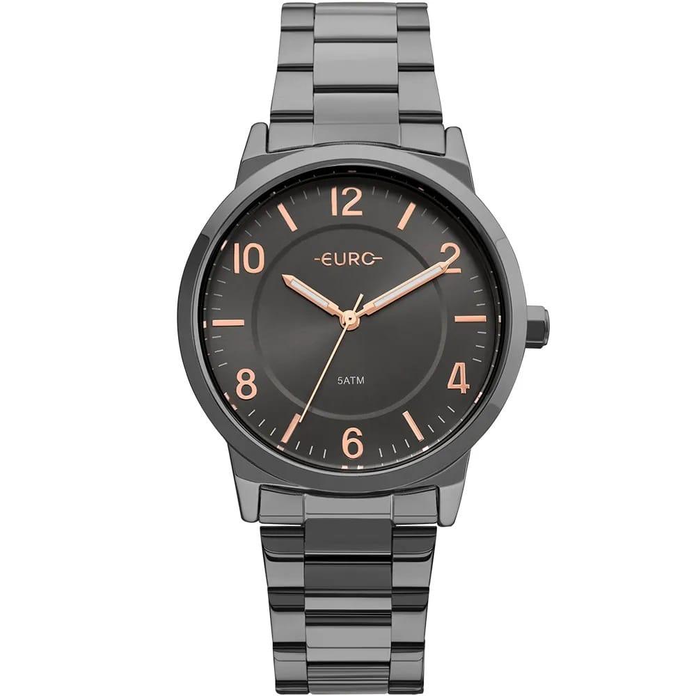 Relógio Euro Feminino Bicolor Trendy Preto e Rose EU2036YLZ/4P