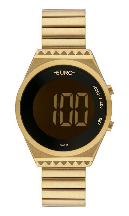 Relógio Euro Feminino Fashion Fit Slim Dourado EUBJT016AA/4D