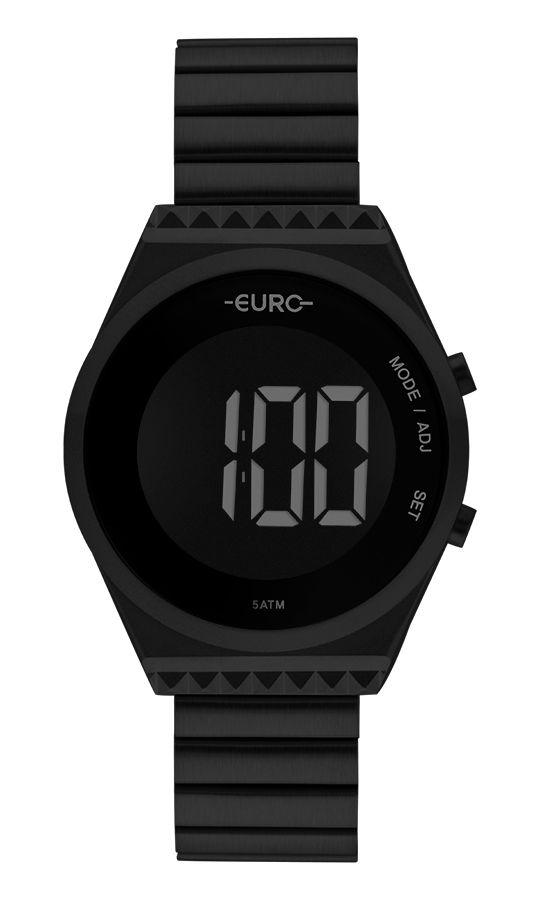 Relógio Euro Feminino Fashion Fit Slim Preto EUBJT016AD/4P