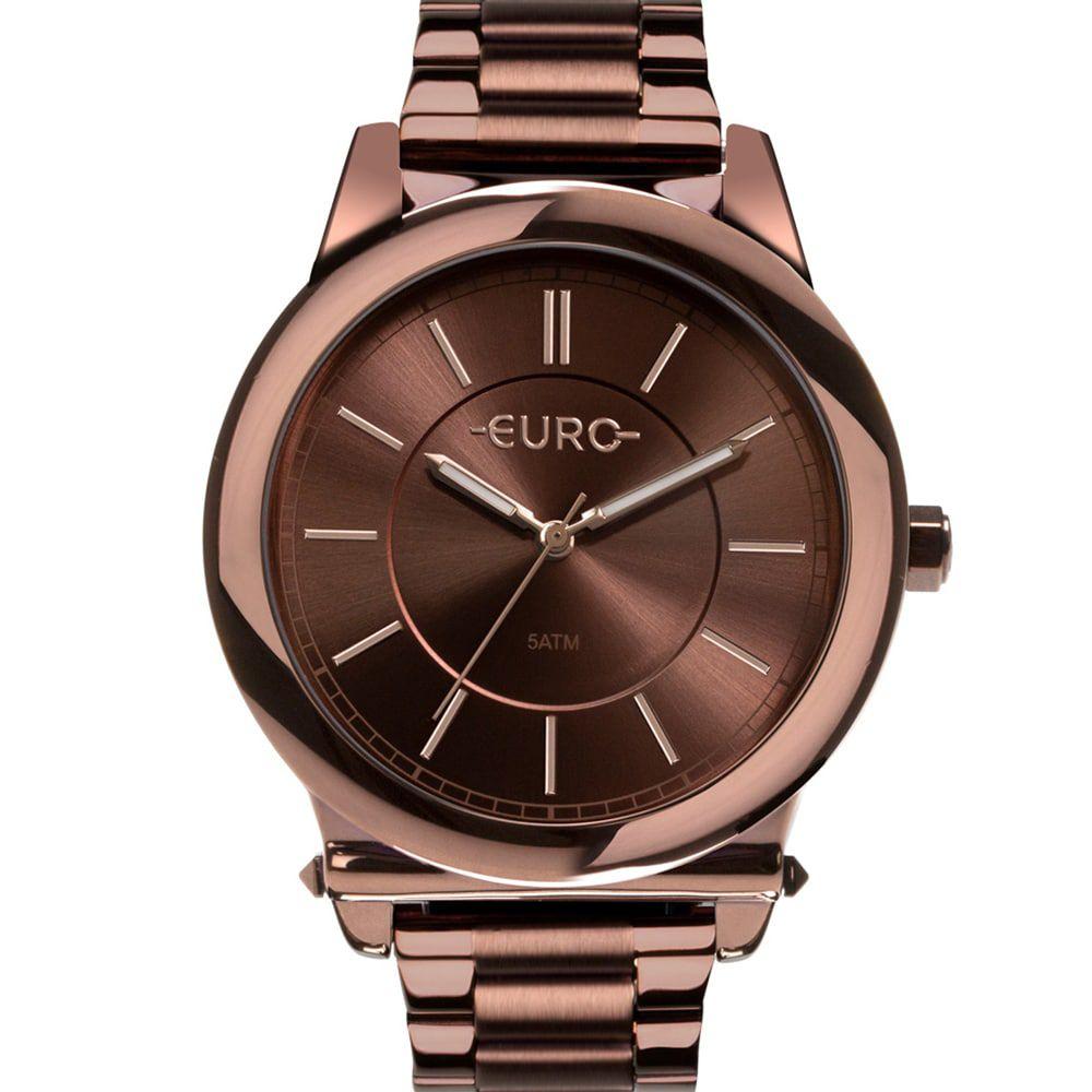 Relógio Euro Feminino Marrom Analógico Trendy EU2036YMR/4M