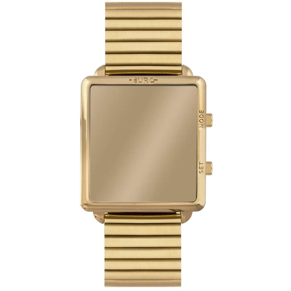 Relógio Euro Feminino Quadrado Reflexos Dourado EUJHS31BAG/4D