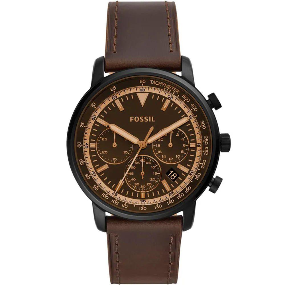 Relógio Fossil Masculino Goodwin Chrono Marrom FS5529/0MN