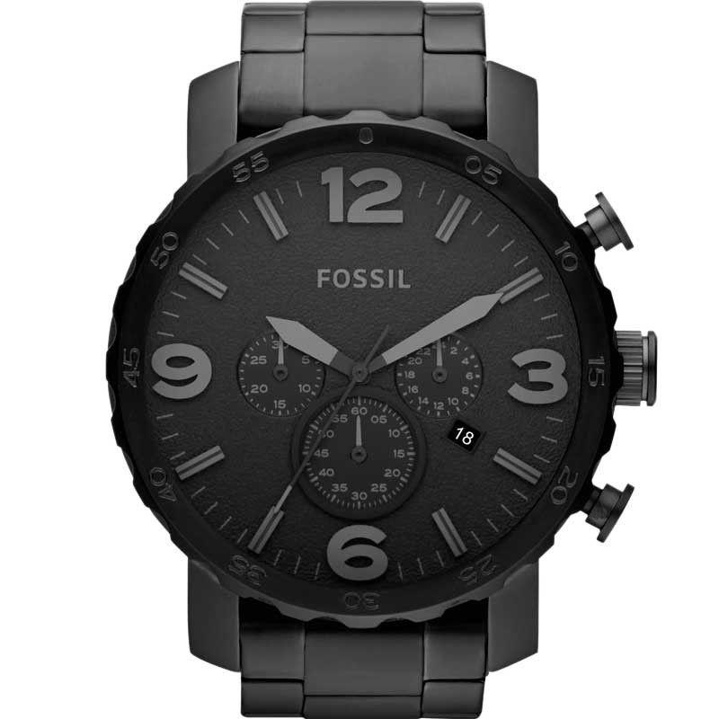 Relógio Fossil Masculino Nate Preto Fosco Aço JR1401/4PN