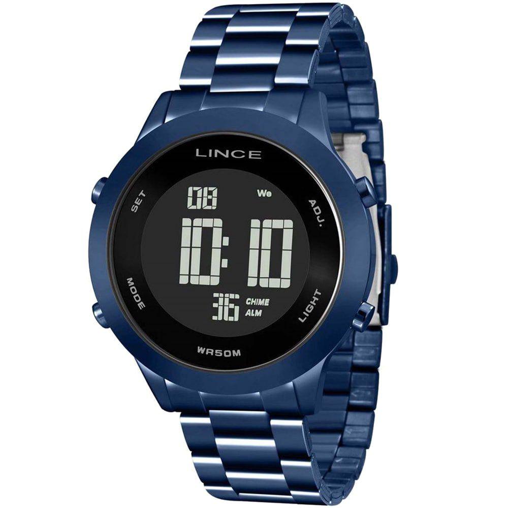 Relógio Lince Feminino Digital Azul Negativo SDPH082L PXDX