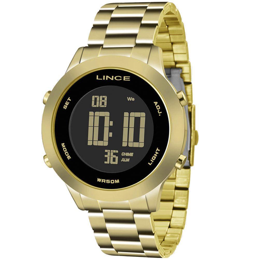 Relógio Lince Feminino Digital Dourado Negativo SDPH038L PXKX