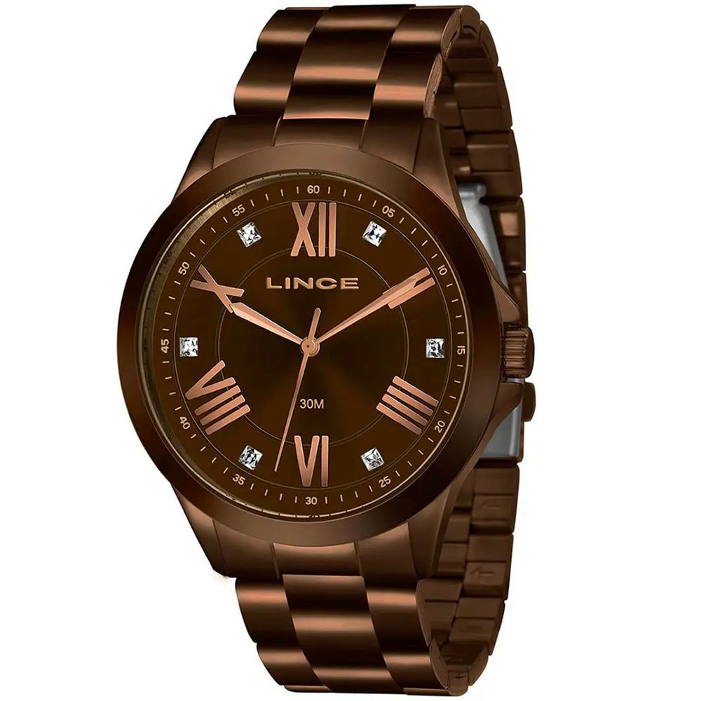 Relógio Lince Feminino Marrom Chocolate LRBJ046L N3NX
