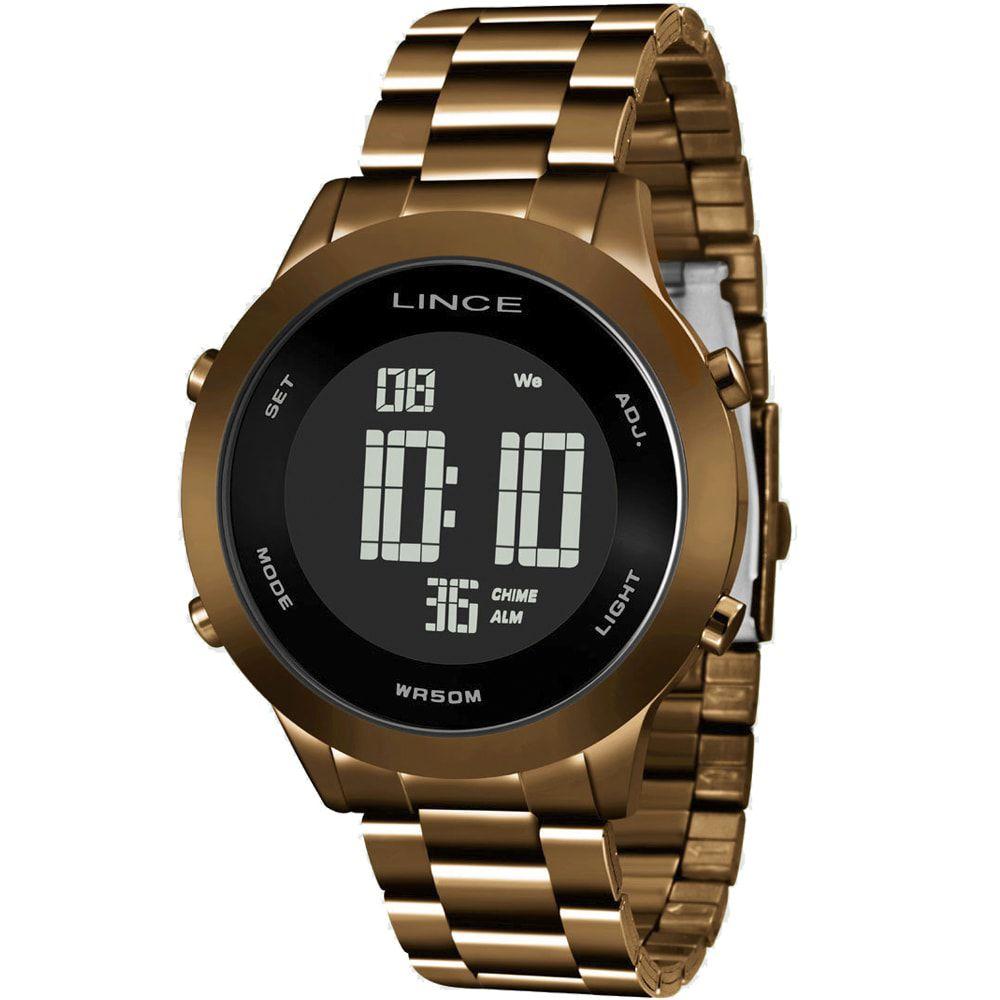 Relógio Lince Feminino Marrom Digital Fashion SDPH084L PXNX