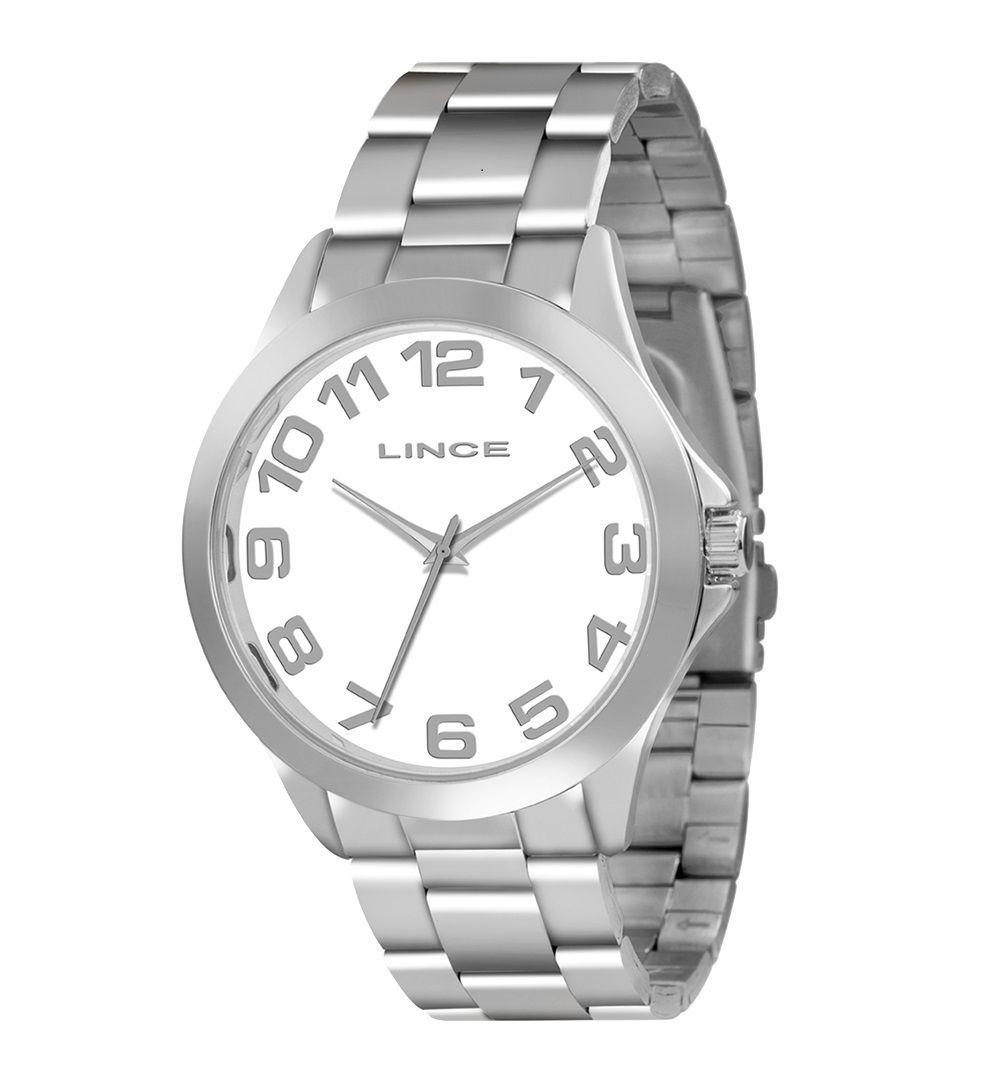 Relógio Lince Feminino Prateado e Branco LRMJ039L B2SX