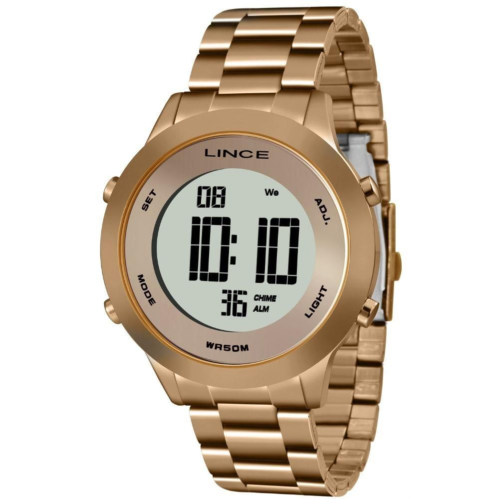 Relógio Lince Feminino Rose Digital Fashion SDRH037L BXRX