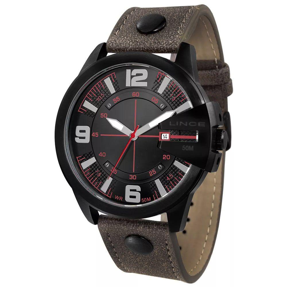 Relógio Lince Masculino Couro Marrom MRC4485S P2NX