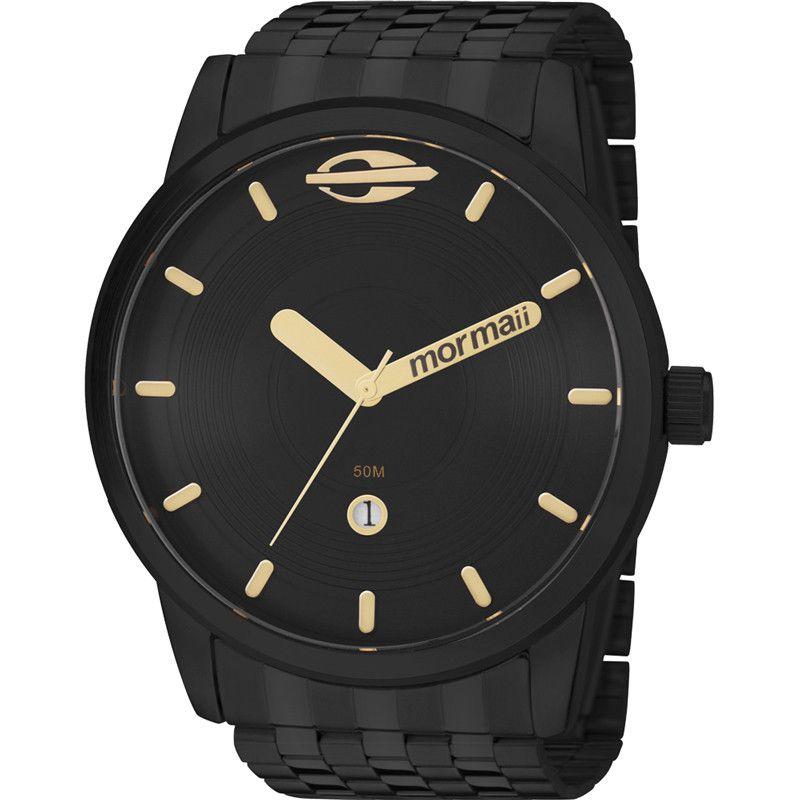 Relógio Mormaii Masculino Maui Preto Analógico MO2115AA/4P