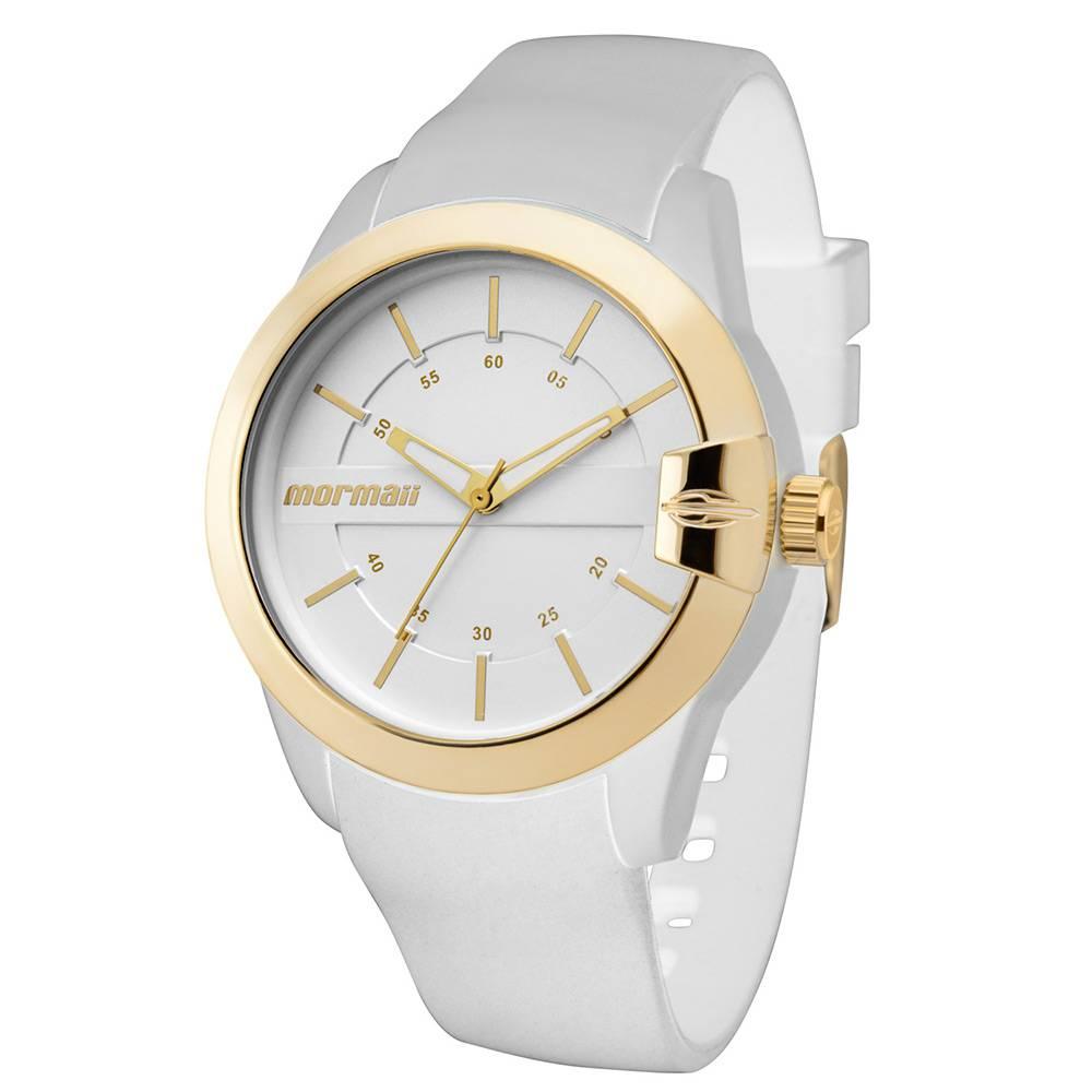 Relógio Mormaii Feminino Maui Branco e Dourado MOPC21JAG/8B