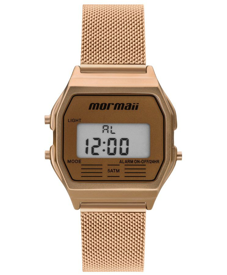 Relógio Mormaii Feminino Vintage Digital Rosé MOJH02BC/4L