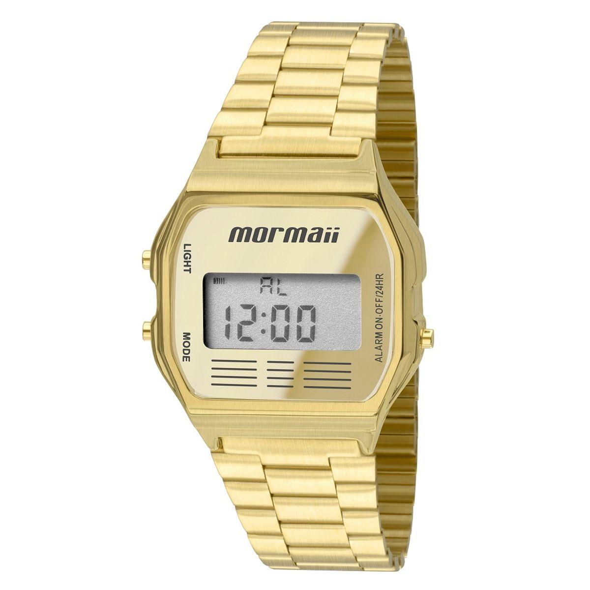 Relógio Mormaii Feminino Vintage Dourado Digital MOJH02AB/4D