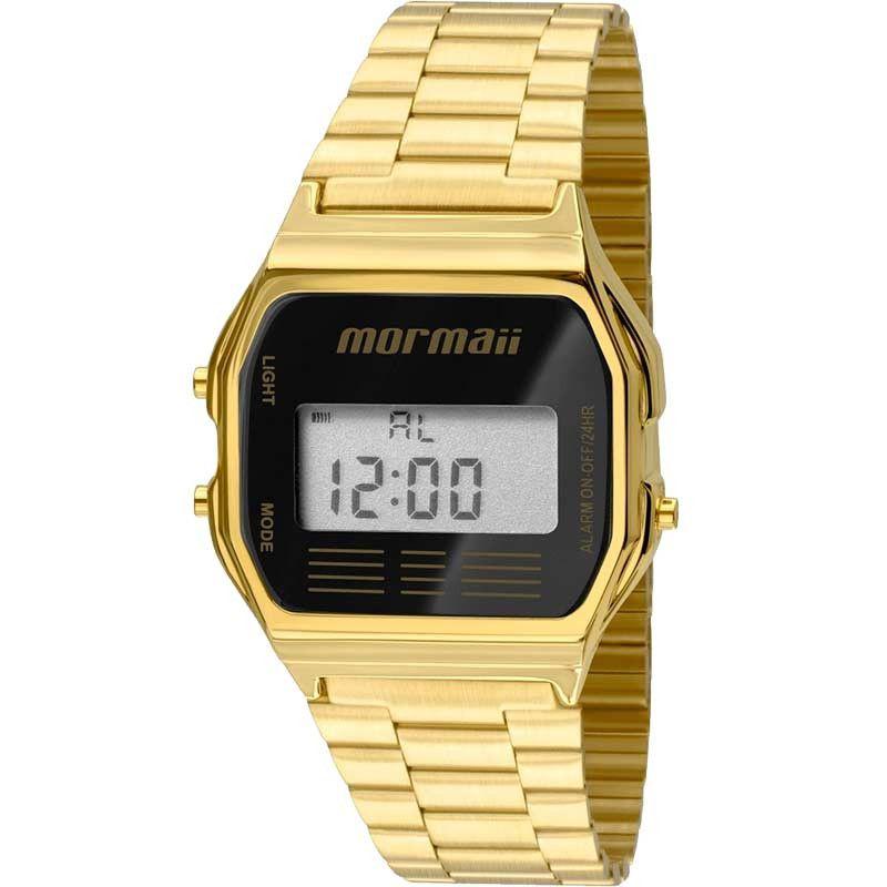 Relógio Mormaii Feminino Vintage Digital Dourado MOJH02AB/4P