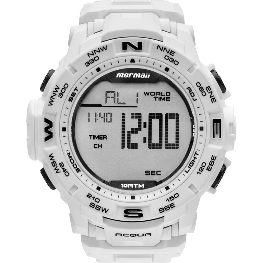 Relógio Mormaii Masculino Branco Luminous Acqua MO1173E/8B