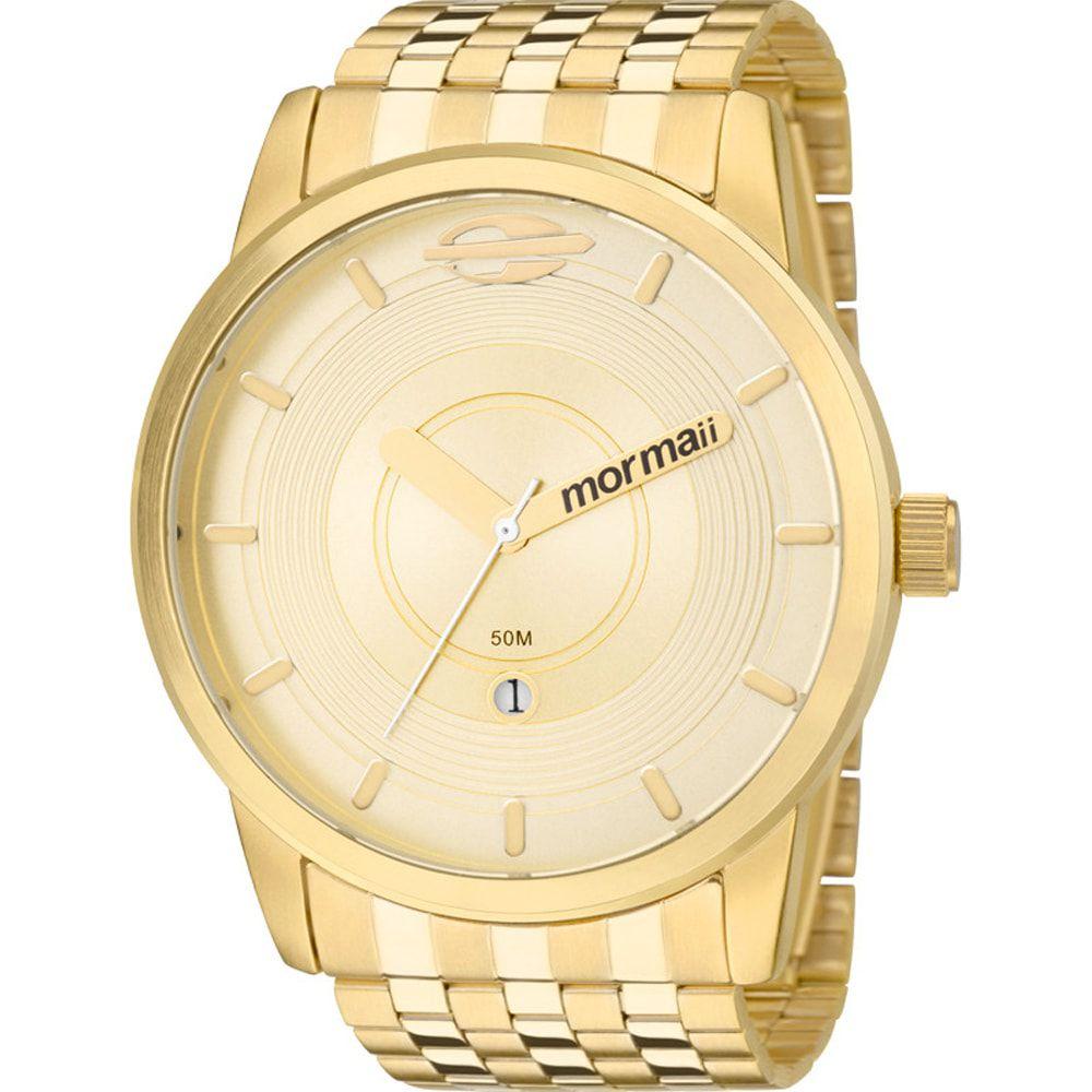 Relógio Mormaii Masculino Maui Dourado MO2115AC/4D