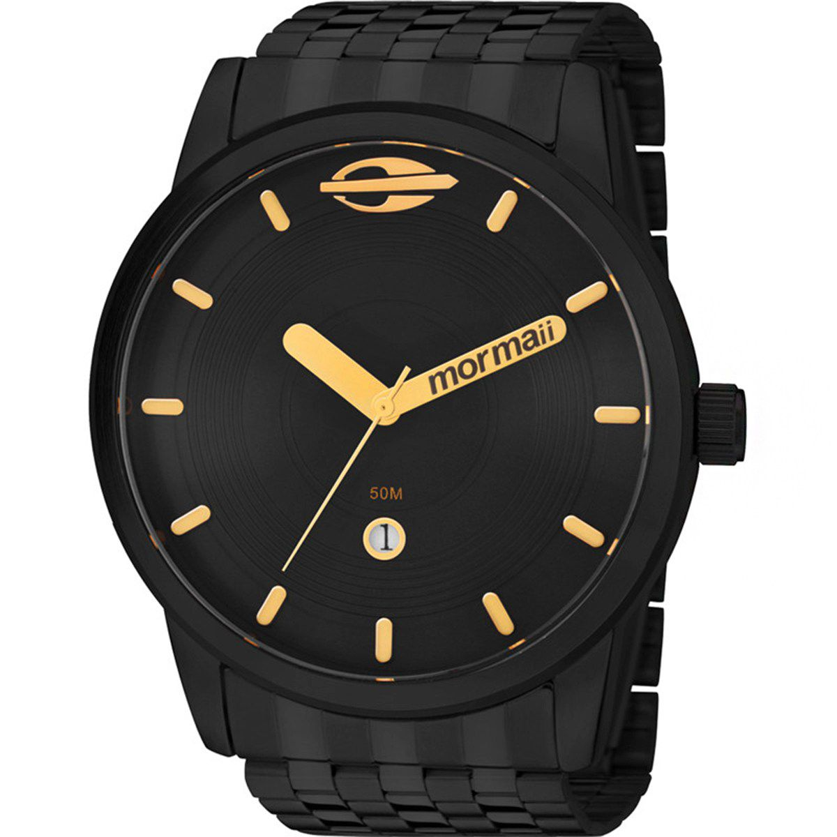 Relógio Mormaii Preto Masculino Maui Analógico MO2115AA/4P