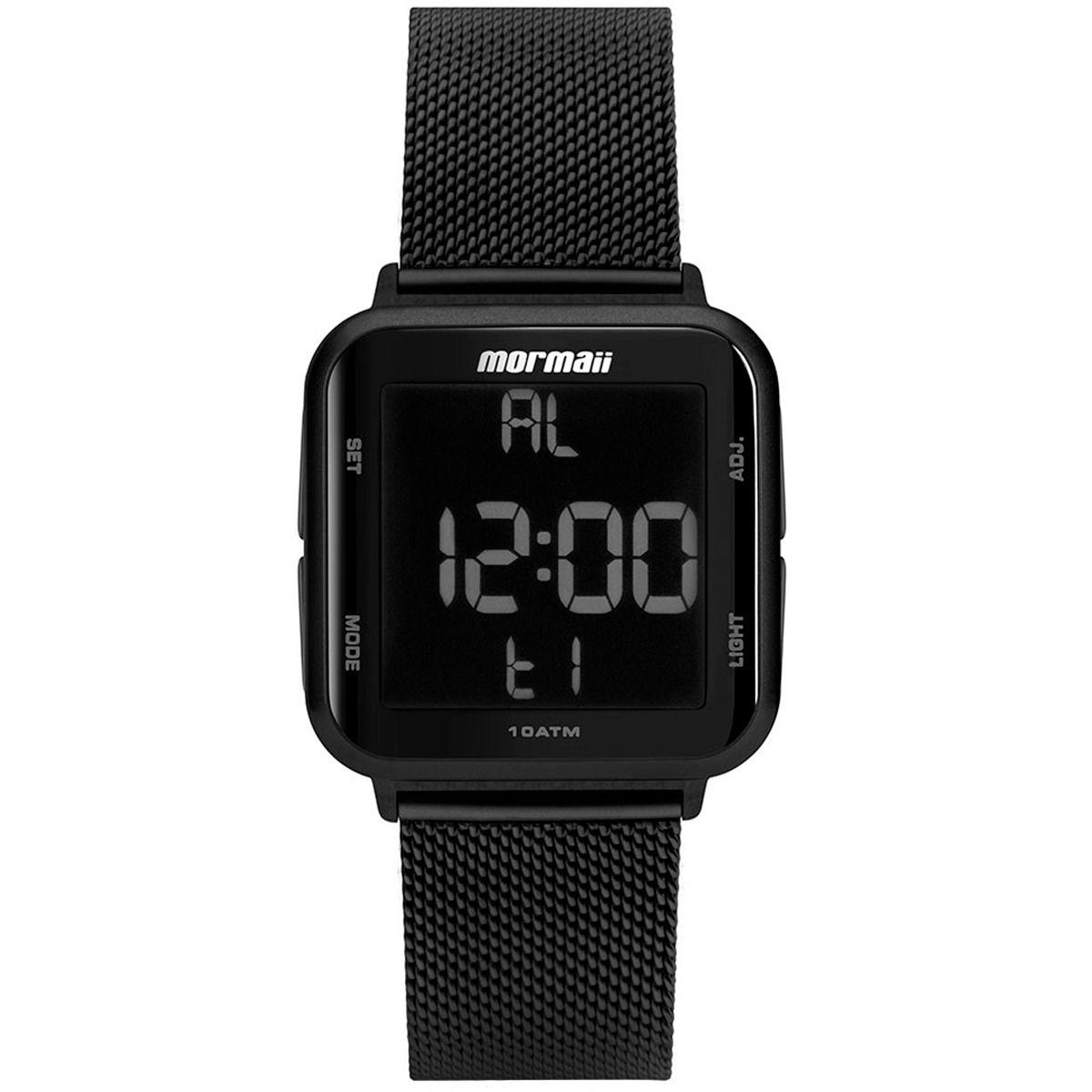 Relógio Mormaii Quadrado Masculino Wave Preto Digital MO6600AG/8P
