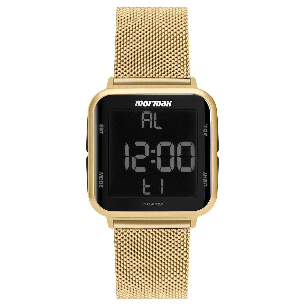 Relógio Mormaii Unissex Quadrado Wave Dourado Digital MO6600AH/8D