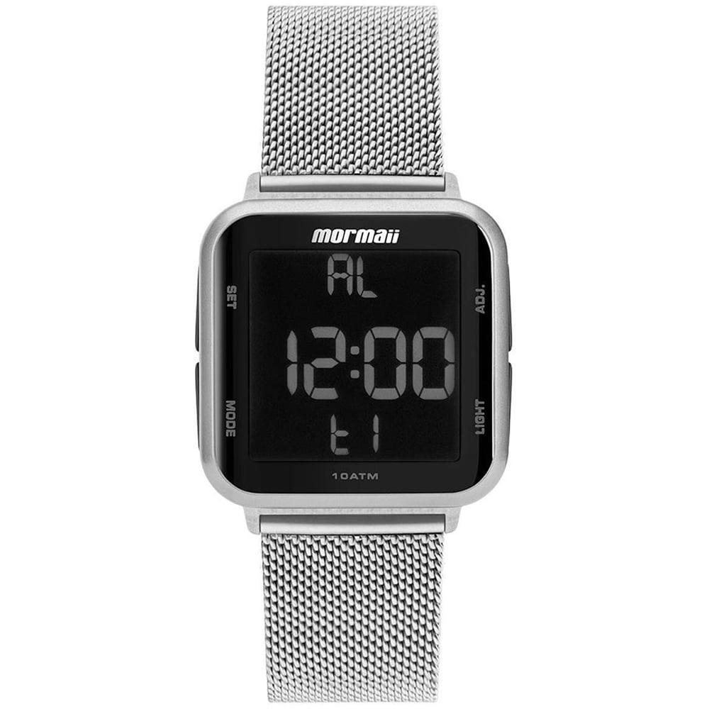 Relógio Mormaii Unissex Quadrado Wave Prata Digital MO6600AK/7K