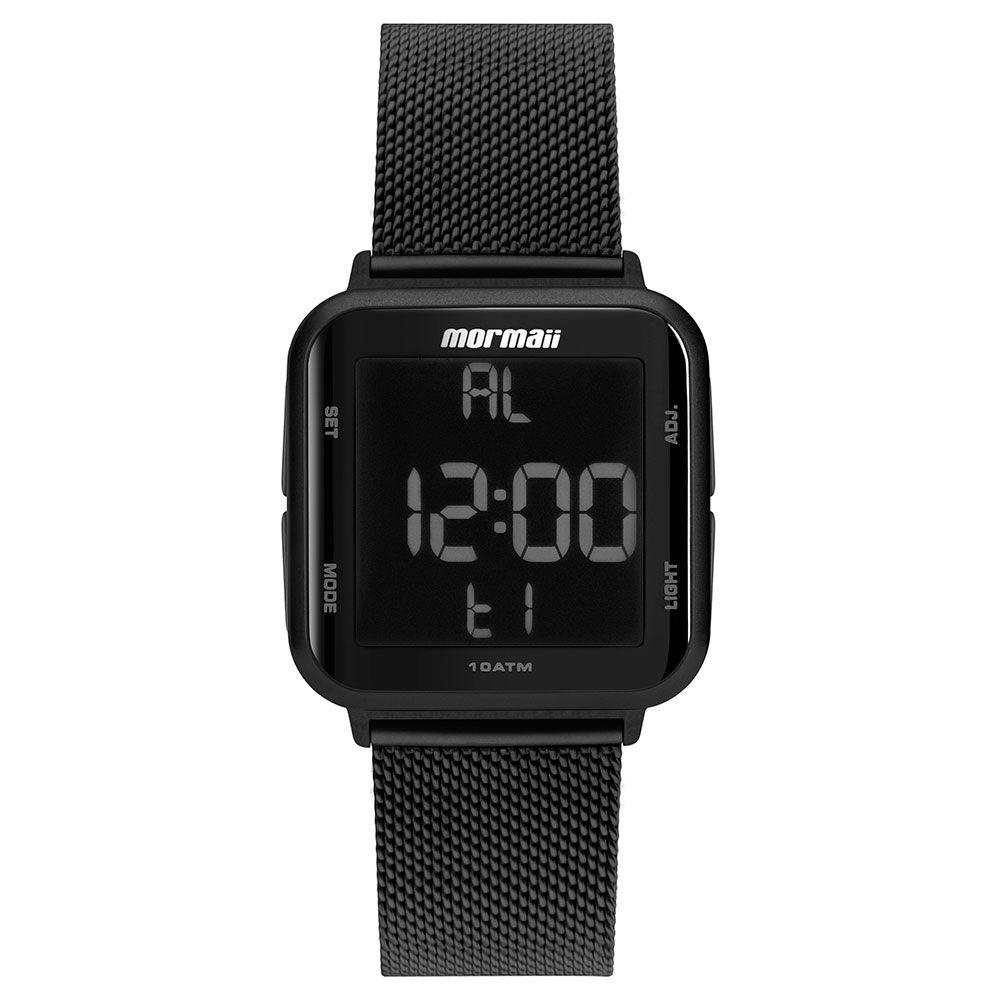 Relógio Mormaii Unissex Quadrado Wave Preto Digital MO6600AG/8P