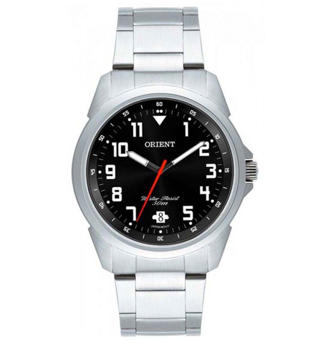 Relógio Orient Masculino Analógico Preto e Prata MBSS1154A P2SX
