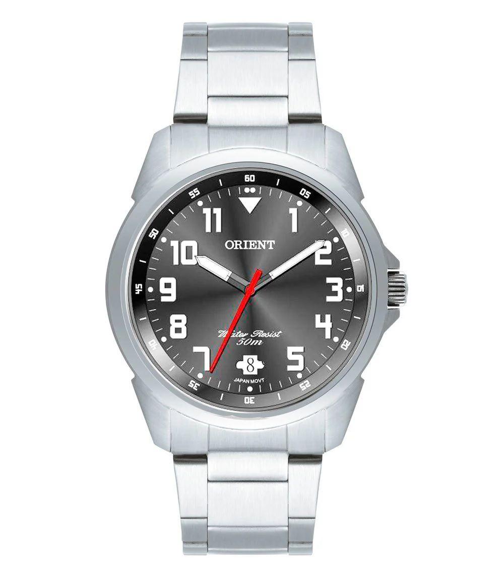 Relógio Orient Masculino Cinza Com Calendário MBSS1154A G2SX