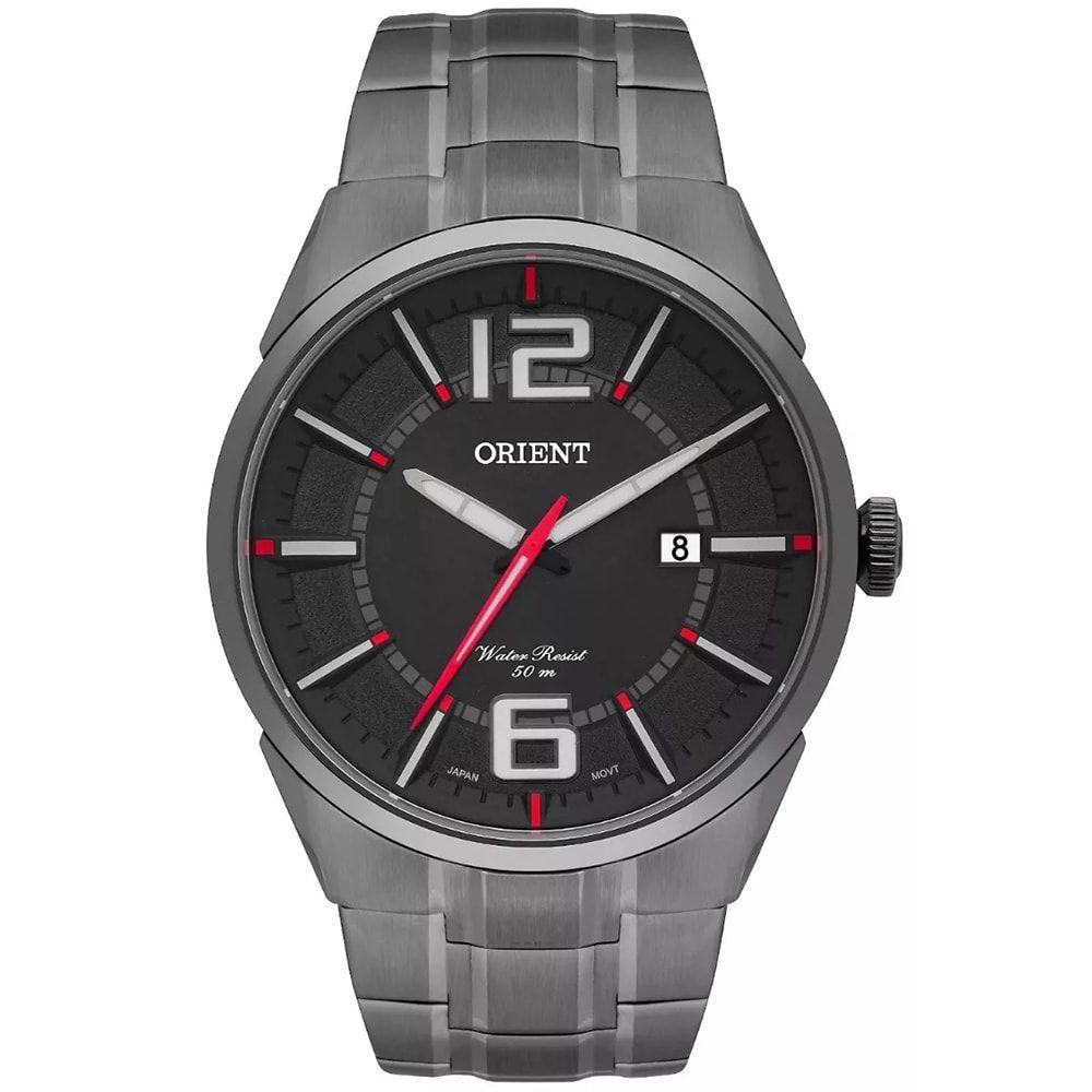 Relógio Orient Masculino Grafite Aço Eternal MPSS1004 G2GX