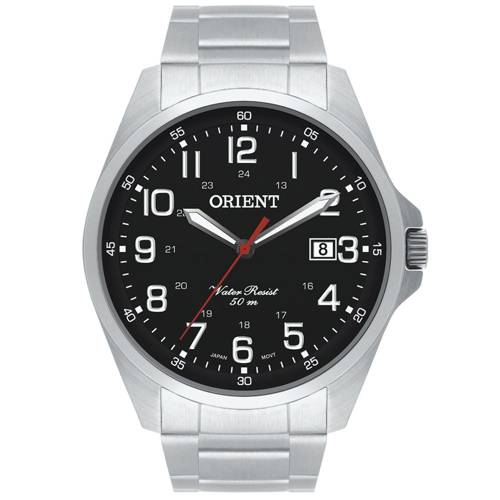 Relógio Orient Masculino Prata e Preto MBSS1171 P2SX