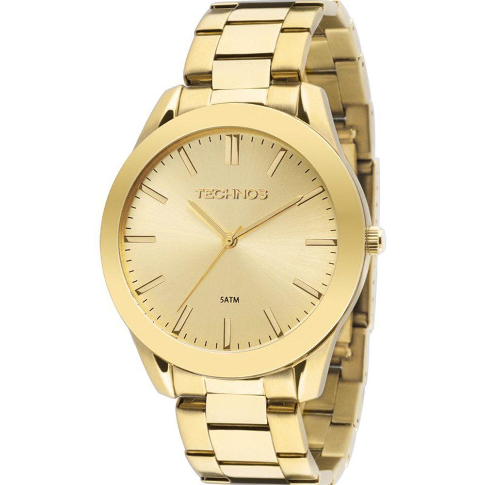 Relógio Technos Feminino Dourado Analógico Steel 2035LRP/4X