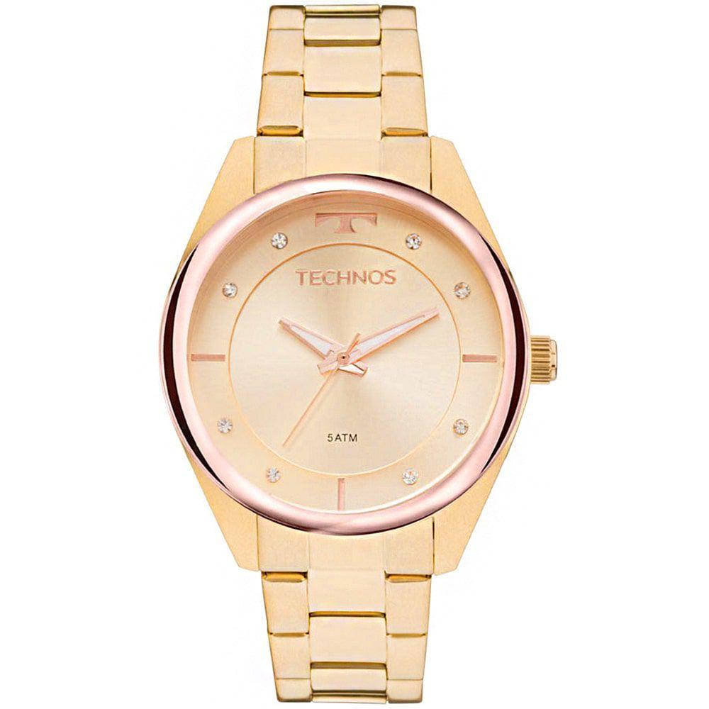 Relógio Technos Feminino Dourado Fashion Trend 2035MKW/4X