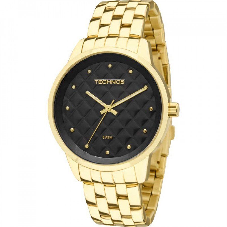 Relógio Technos Feminino Trend Dourado e Preto 2035LWM/4P