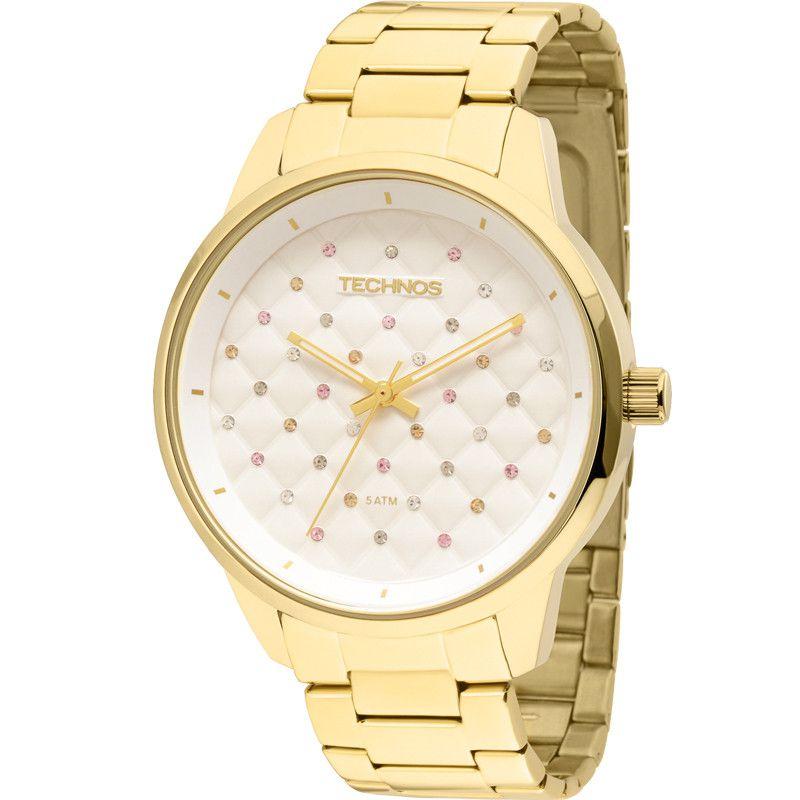 Relógio Technos Feminino Trend Fashion Dourado 2035LXU/4K