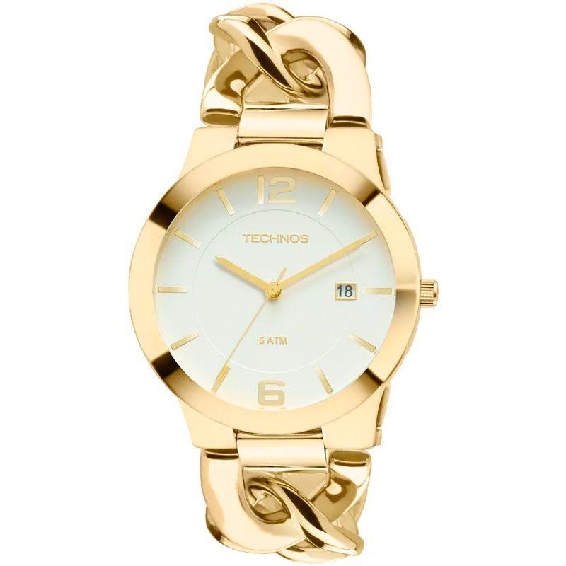 Relógio Technos Feminino Unique Dourado 2115UL/4B