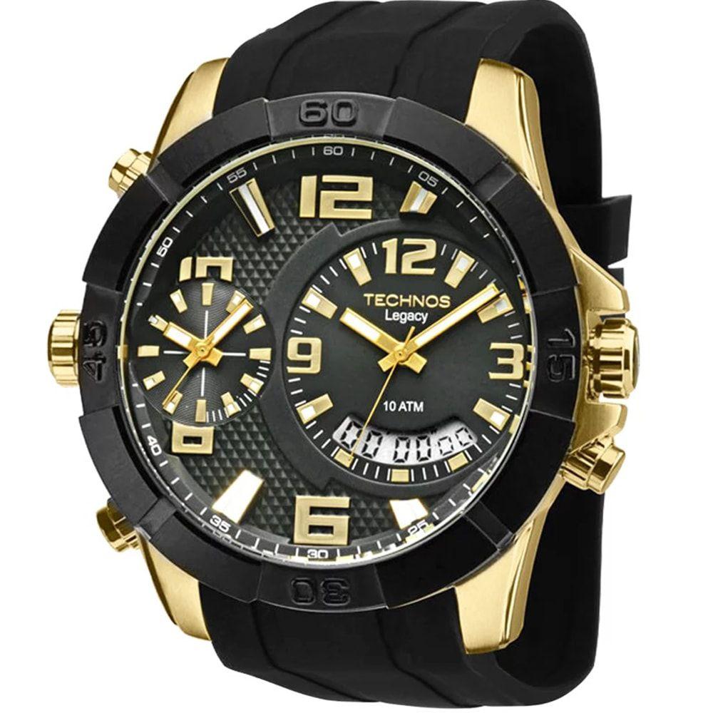 Relógio Technos Legacy Dourado e Preto Classic T205FJ/8P