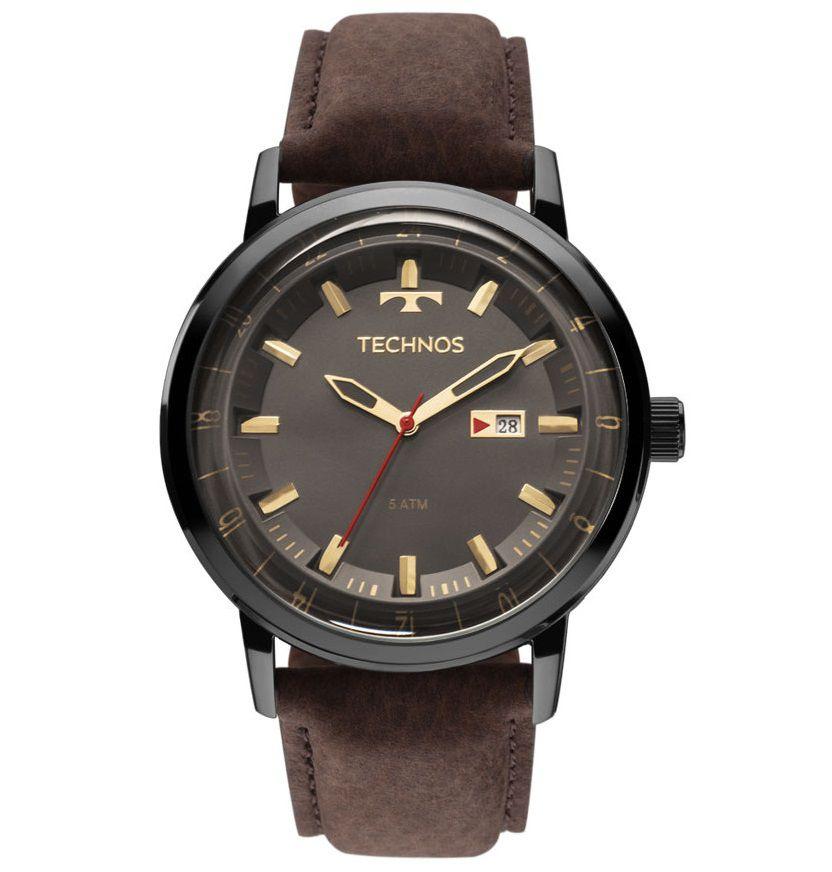 Relógio Technos Masculino Classic Couro Golf 2115LAQ/2C