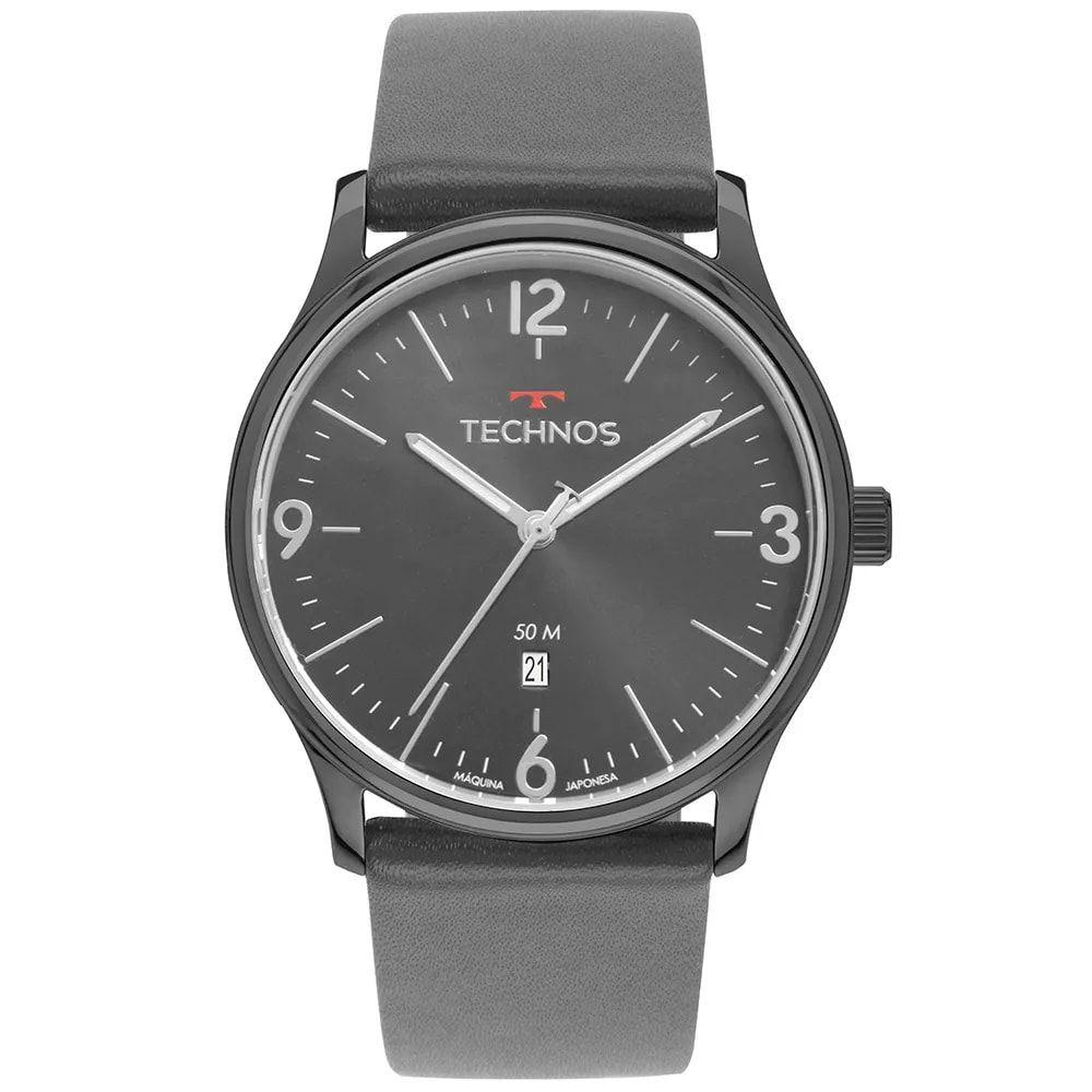 Relógio Technos Masculino Classic Steel Grafite 2115MUO/2C