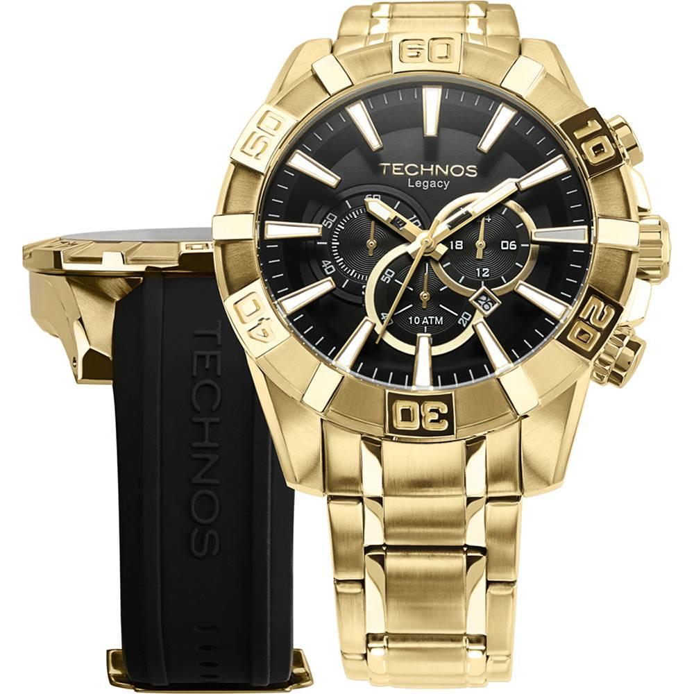 Relógio Technos Masculino Dourado Classic Legacy OS2AAJAC/4P