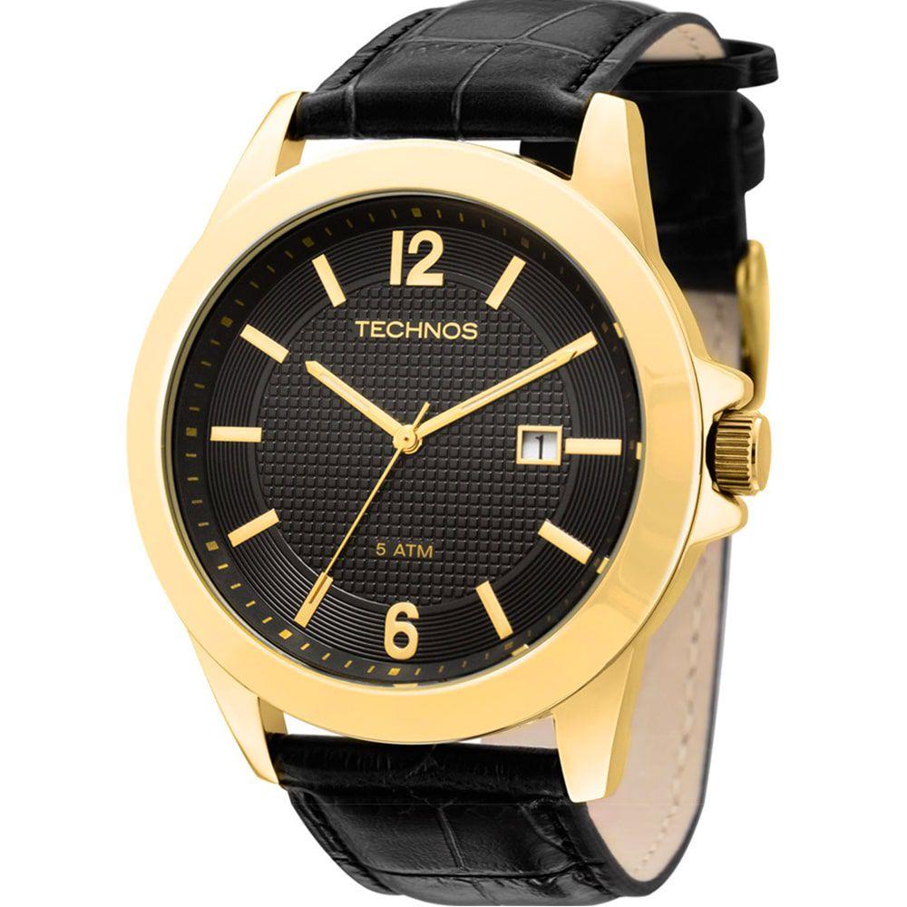 Relógio Technos Masculino Dourado Classic Steel 2115KNO/2P