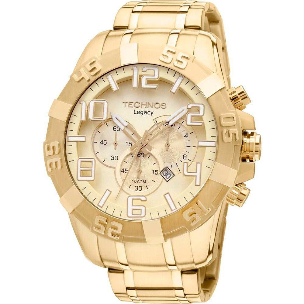 Relógio Technos Masculino Dourado Cronógrafo Legacy OS20IK/4X