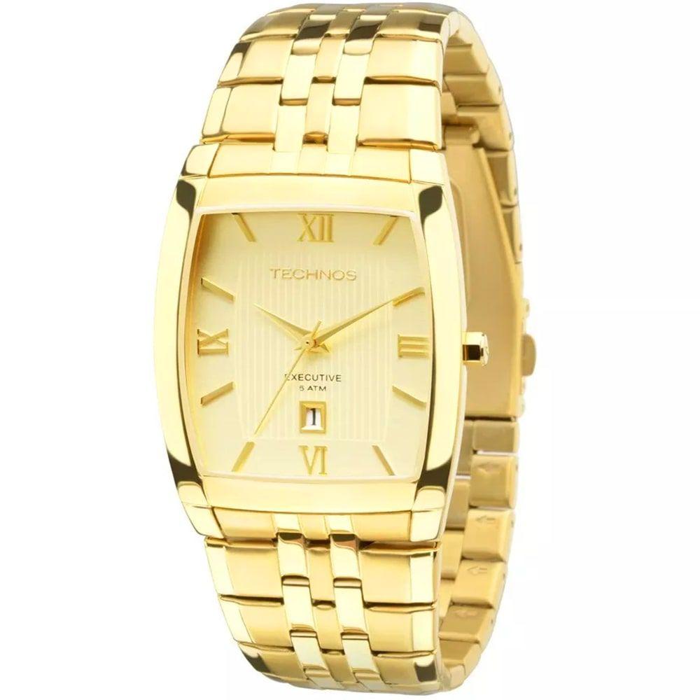 Relógio Technos Masculino Executive Dourado 1N12MP/4X