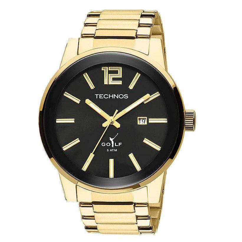 Relógio Technos Masculino Golf Dourado 2115TT/4P