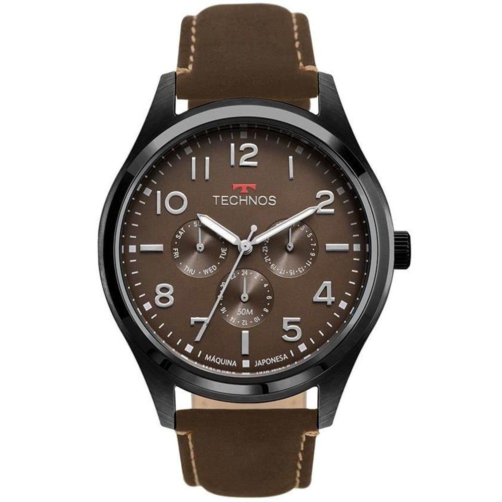 Relógio Technos Masculino Marrom MultiFunção 6P29AKL/2P