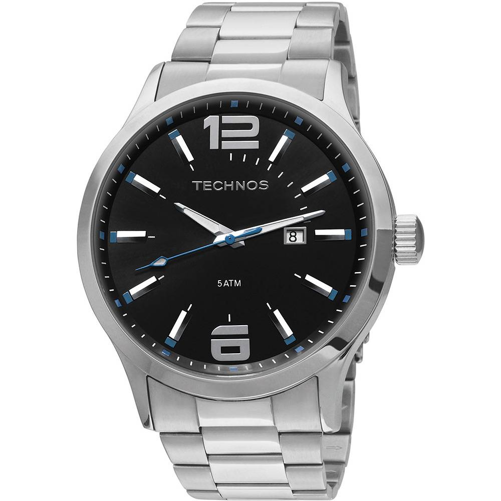 Relógio Technos Masculino Performance Prata 2115GU/1A
