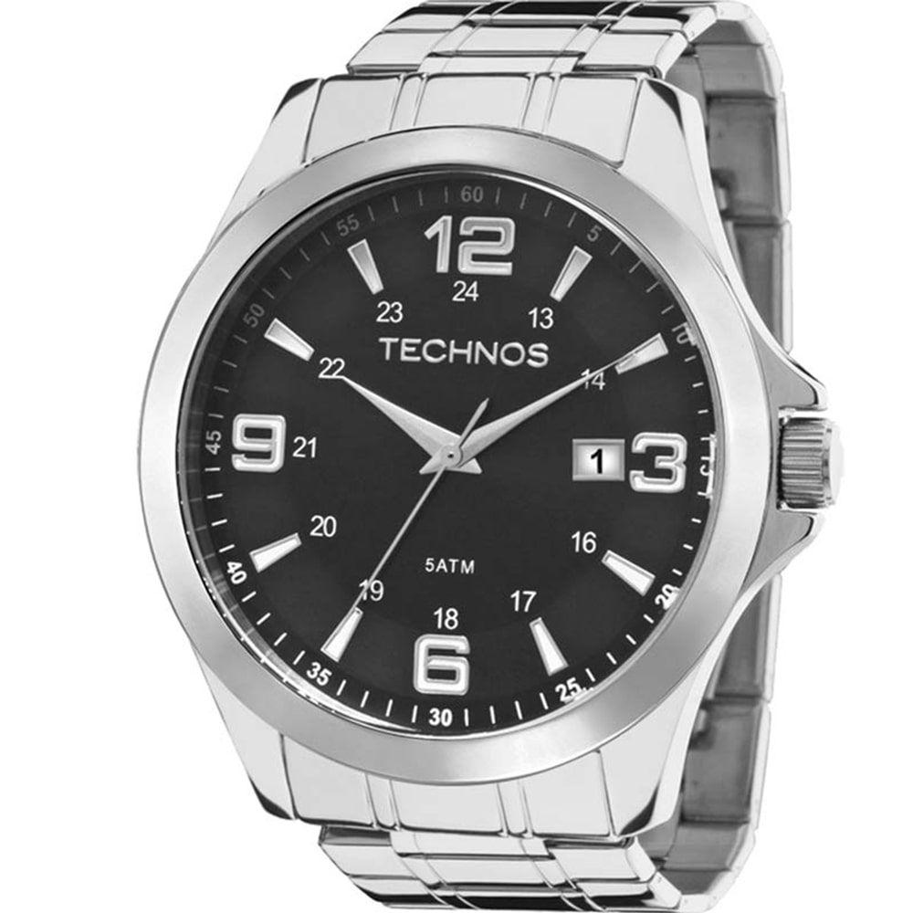 Relógio Technos Masculino Prateado Classic Steel 2115MKT/1P