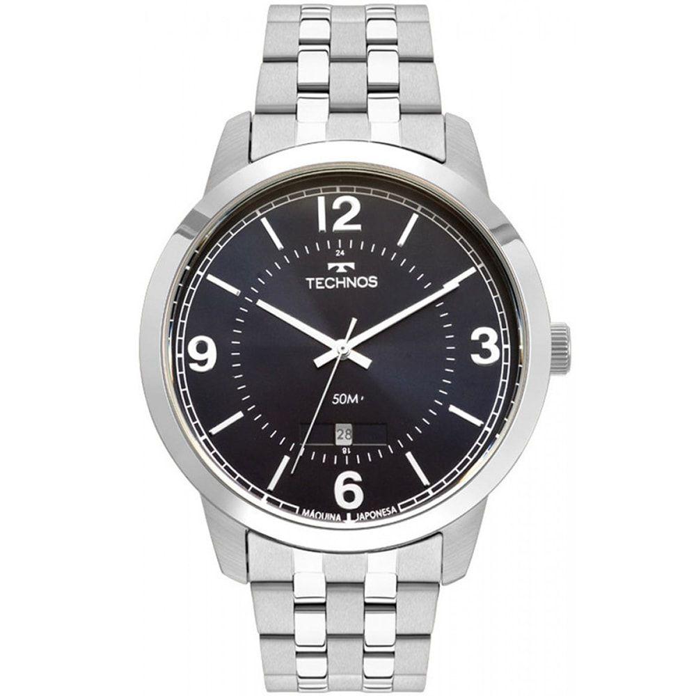Relógio Technos Masculino Prateado Classic Steel 2115MTG/1A