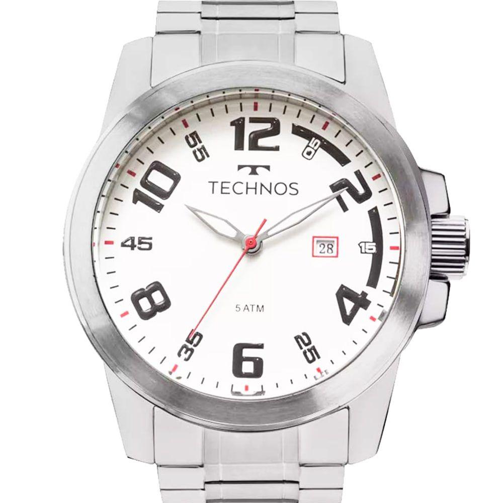 Relógio Technos Masculino Prateado Performance Racer 2115MGR/1B